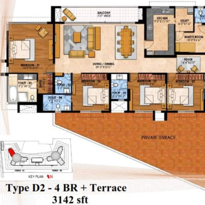 prestige-fairfield-4-bhk-study-plan