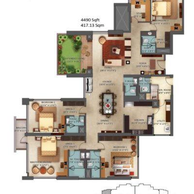 Mantri Centrium 4 Bedroom Floor Plan
