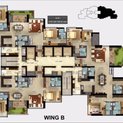 Mantri Centrium Wing B Floor Plans