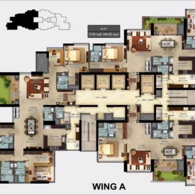Mantri Centrium Wing A Layout Plan