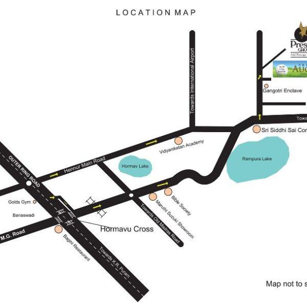 Prestige Augusta Golf Village Location Map