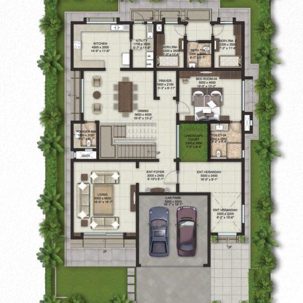 sobha-lifestyle-villa-ground-floor-plans