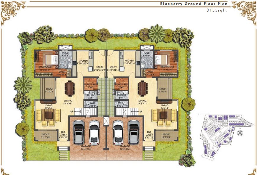 Prestige Mayberry 4 Bedroom Villas Hopefarm Whitefield