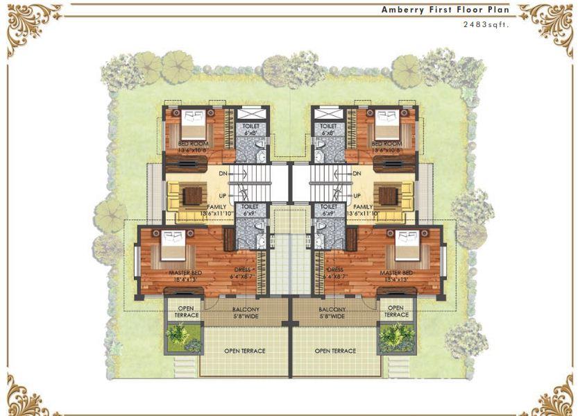 Mayberry Homes Floor Plans: Prestige Mayberry 4 Bedroom Villas Hopefarm Whitefield