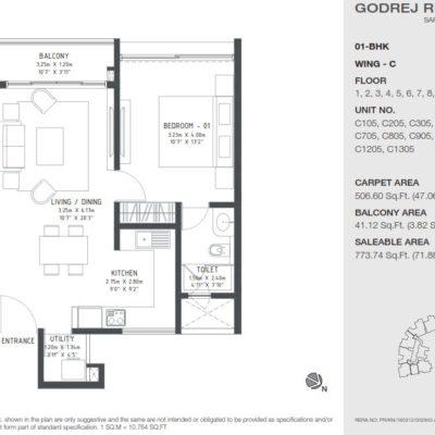 godrej-reflections-1bhk-plan