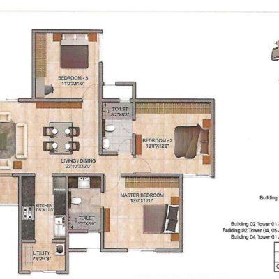 prestige-jindal-city-3-bedroom-floor-plan