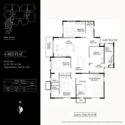 kolte-patil-24k-grazio-4-bedroom-floor-plan