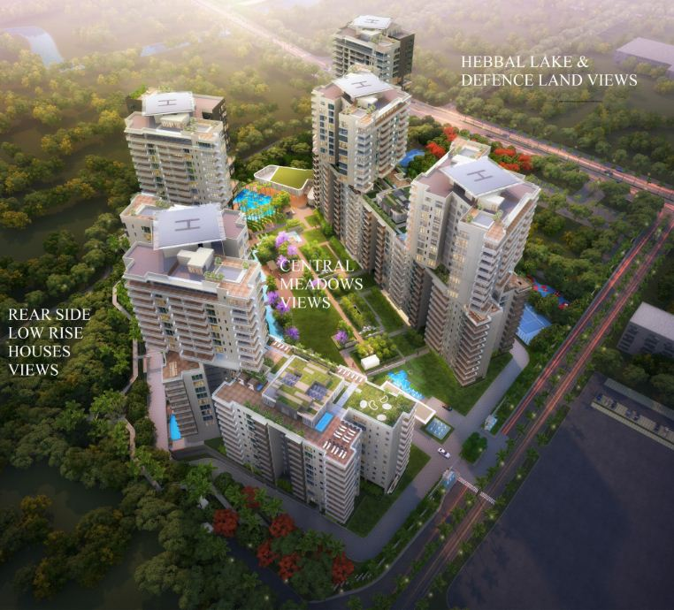 Embassy Park Apartments: Embassy Lake Terraces 3 & 4 Bedroom Apartments Hebbal