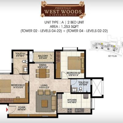 prestige-west-woods-2-bedroom-plan