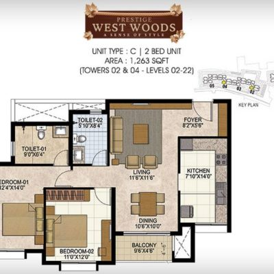 prestige-west-woods-2-bhk-plan