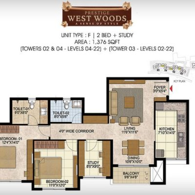 prestige-west-woods-2.5-bhk-plans