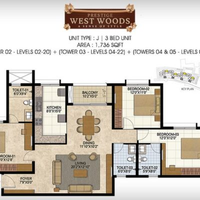 prestige-west-woods-3-bedroom-plan