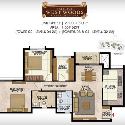 prestige-west-woods-floor-plans