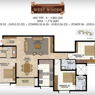 prestige-west-woods-layout