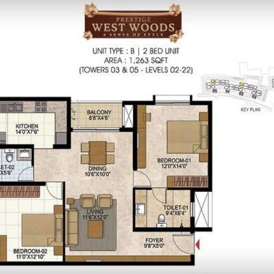 prestige-west-woods-site-map