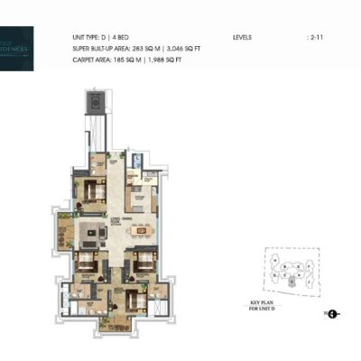 prestige-leela-residences-apartment-floor-plan
