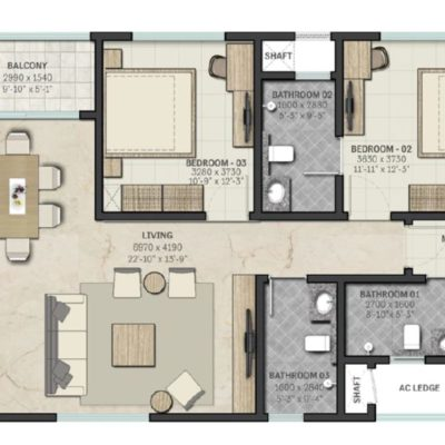 sobha-indraprastha-2-4-bedroom-floor-plan