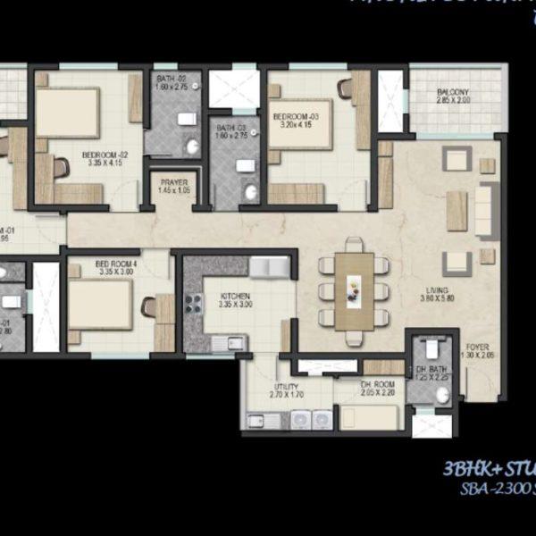sobha-royal-pavilion-floor-plan