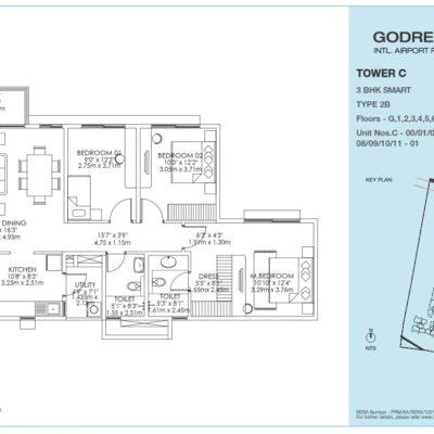 godrej-aqua-3-bedroom-floor-plan