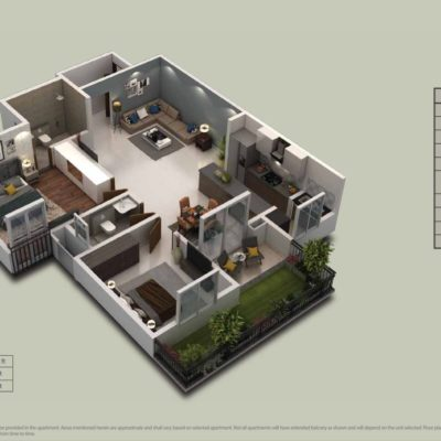 Purva-zenium-2-bhk-floor-plan