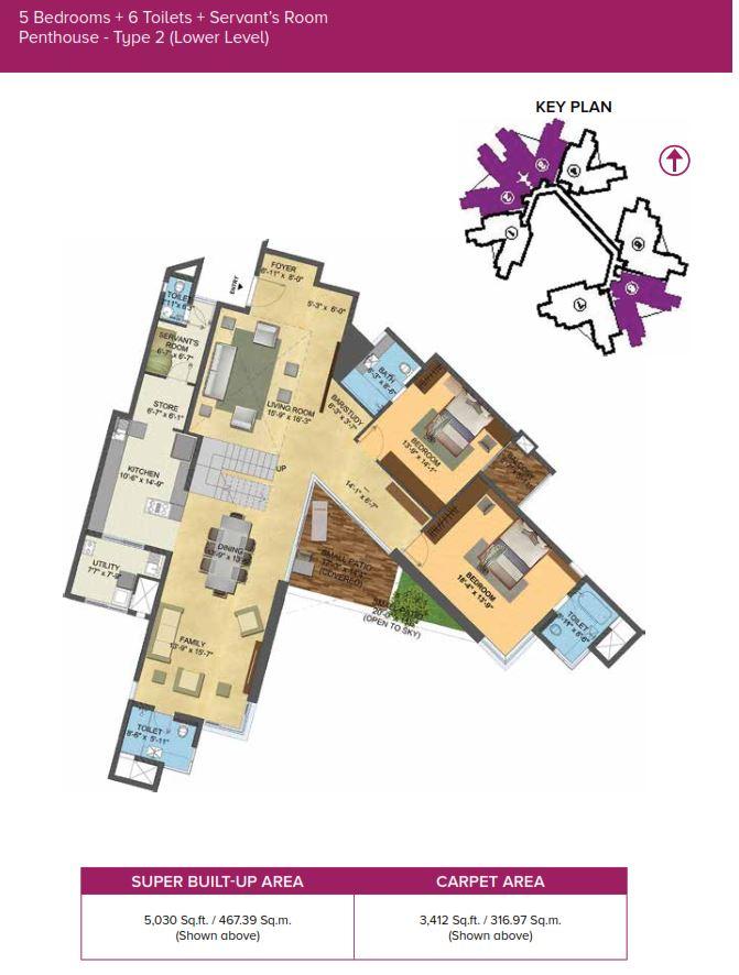 Brigade Exotica 3 4 Bedroom Apartments 5 Bhk Duplex Penthouse